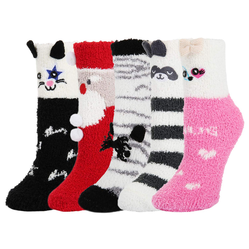Fuzzy Christmas Slipper Socks - Happypop