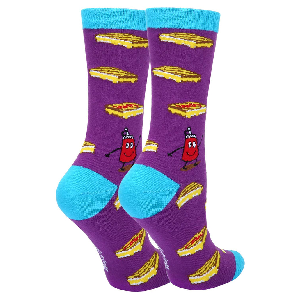 Cheese & Ketchup Socks - Happypop
