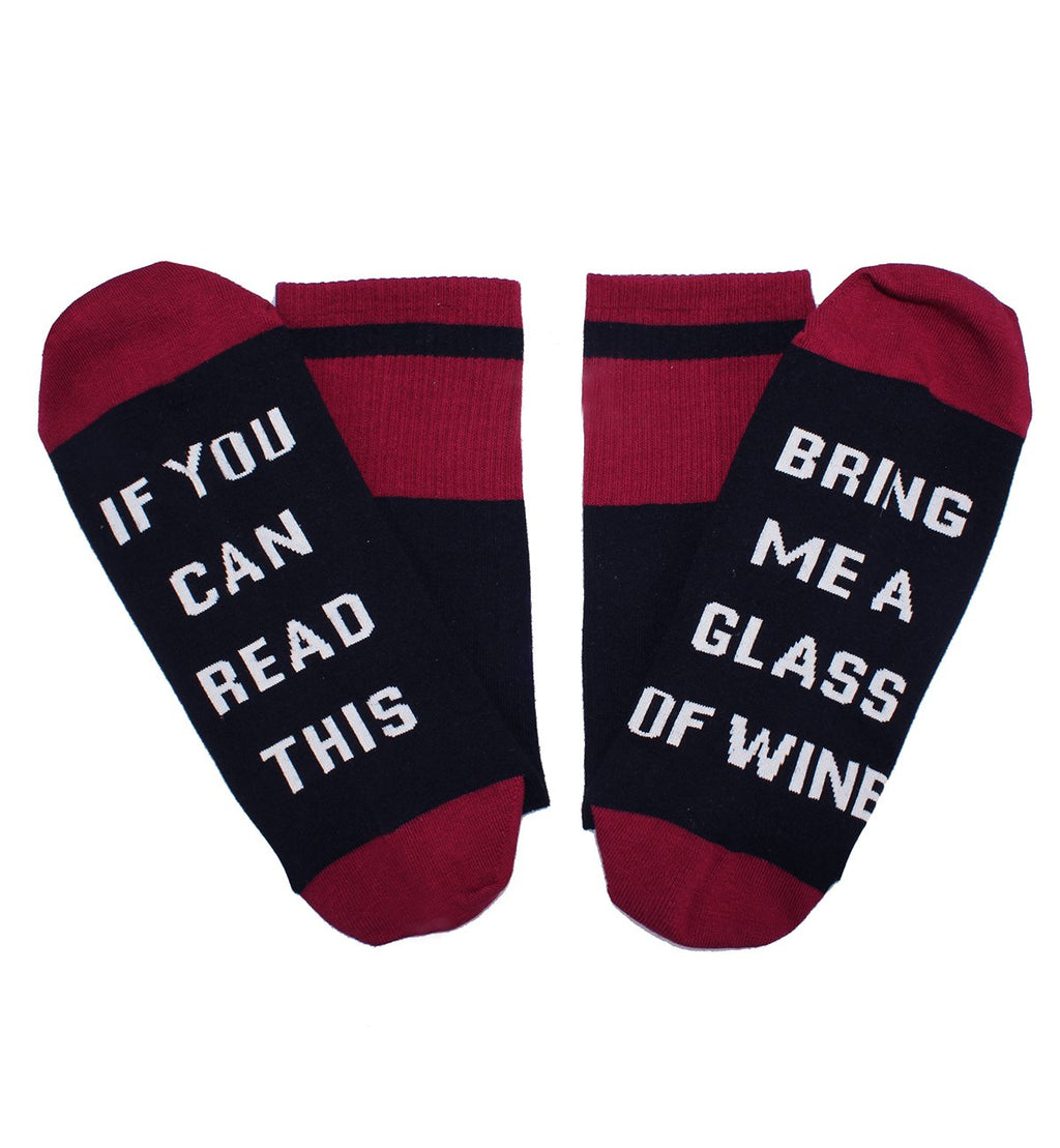 Saying Red Wine Socks - Happypop