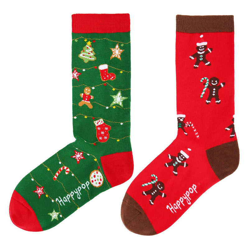 Christmas Gingerbread Socks Gift Box - Happypop