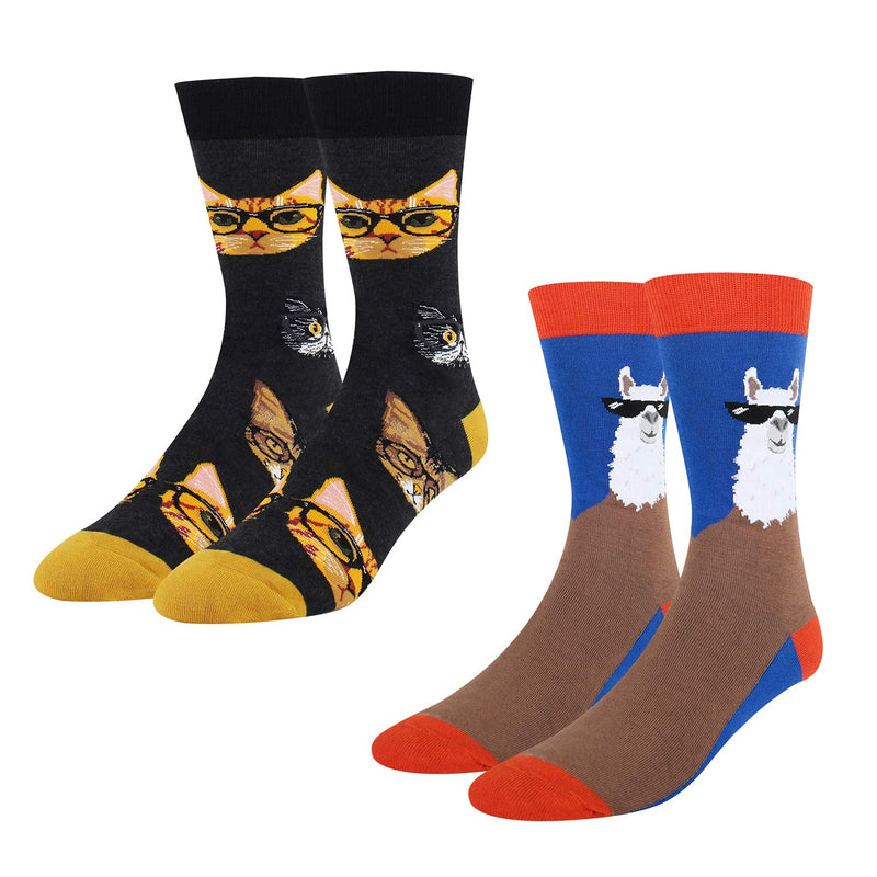 Glasses Animal Socks Gift Box - Happypop