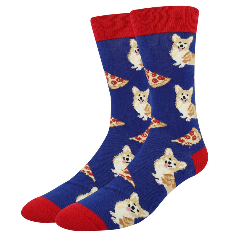 Corgi Pizza Socks - Happypop
