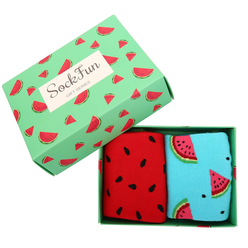 Watermelon Socks Gift Box - Happypop