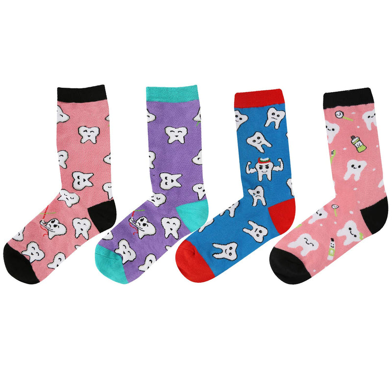 Colorful Tooth Socks Gift Box - Happypop