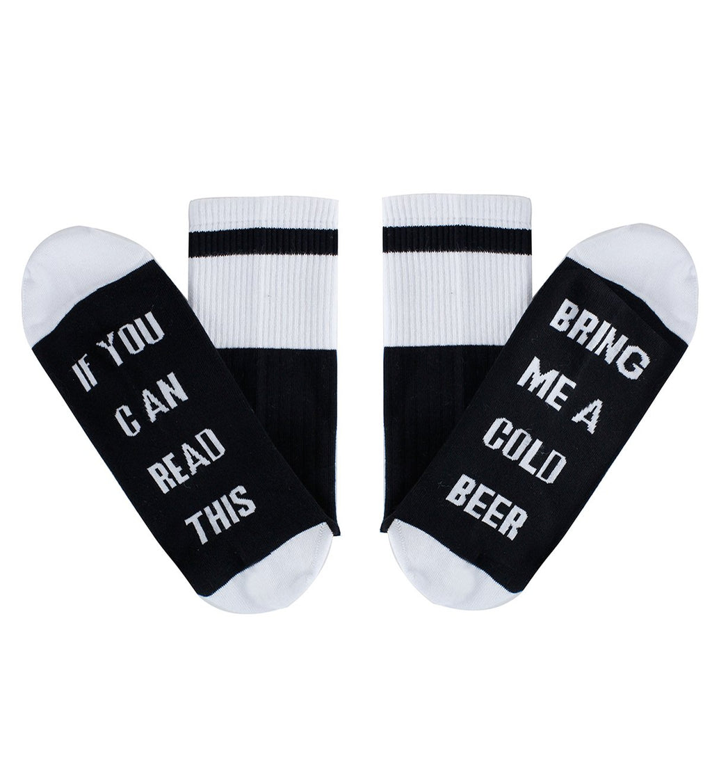 Saying Black Beer Socks - Happypop