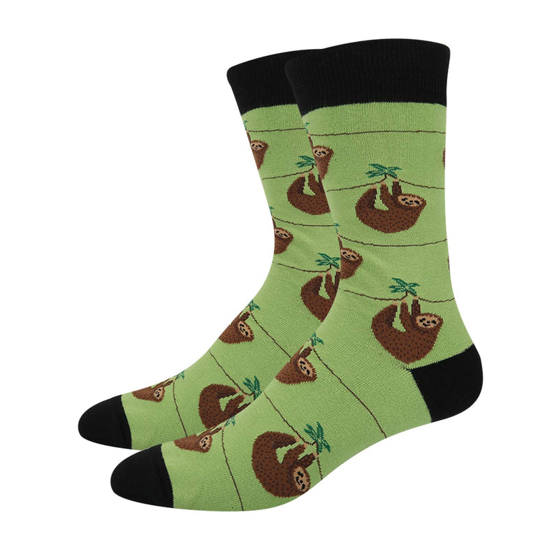 Green Sloth Socks