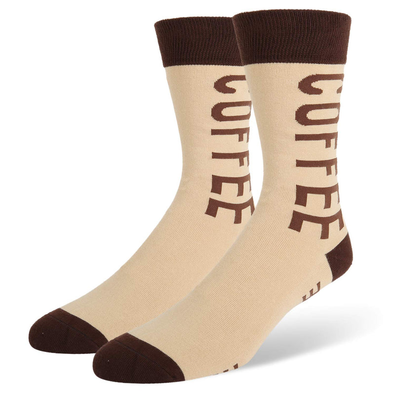 Saying Brown Coffee Socks - Happypop