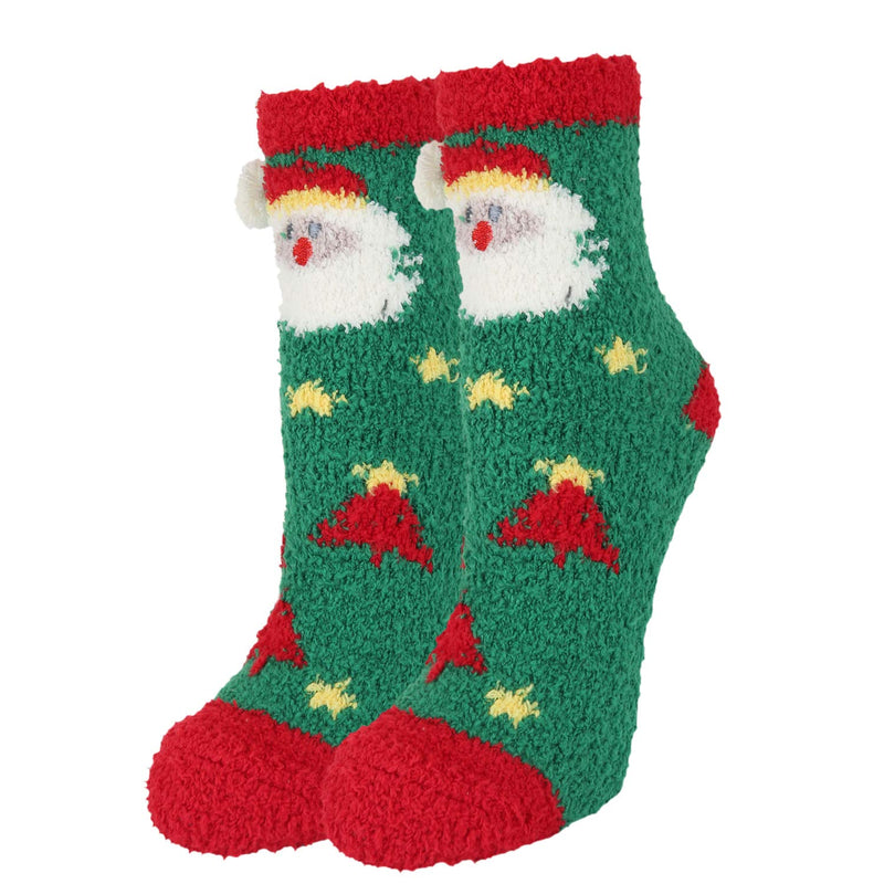 Fuzzy Christmas Socks