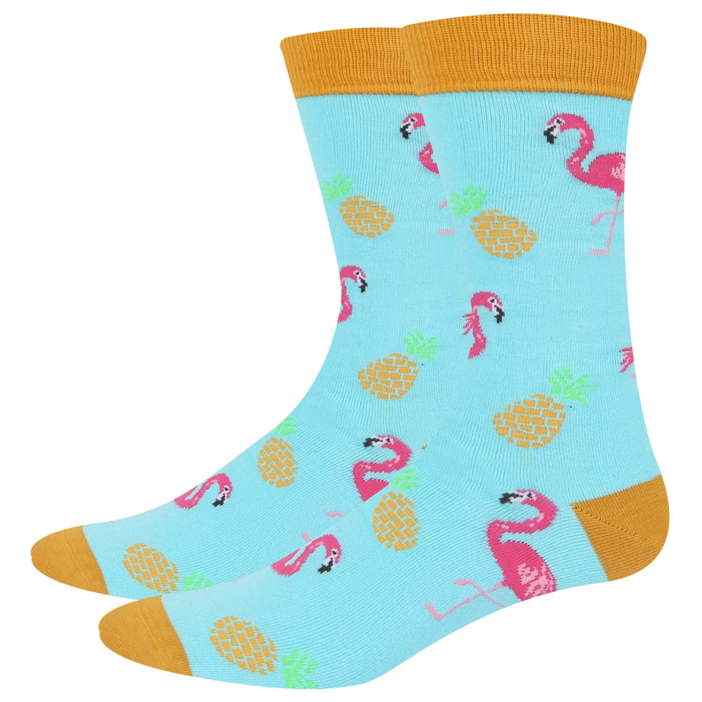 Pineapple Flamingo Socks - Happypop