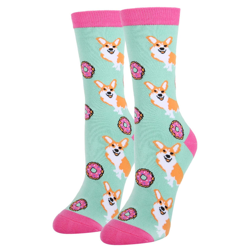 Printed Dollar Dog Food Socks