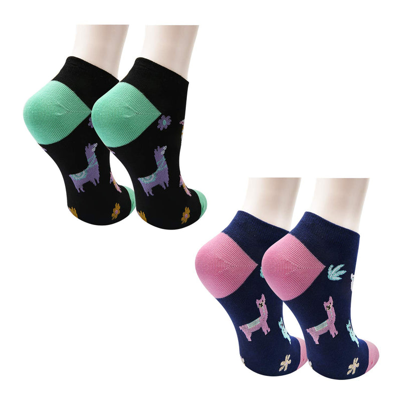 Llama Ankle Socks - 2 Pack - Happypop