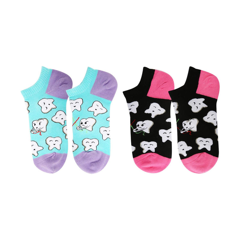 Teeth Ankle Socks - 2 Pack - Happypop