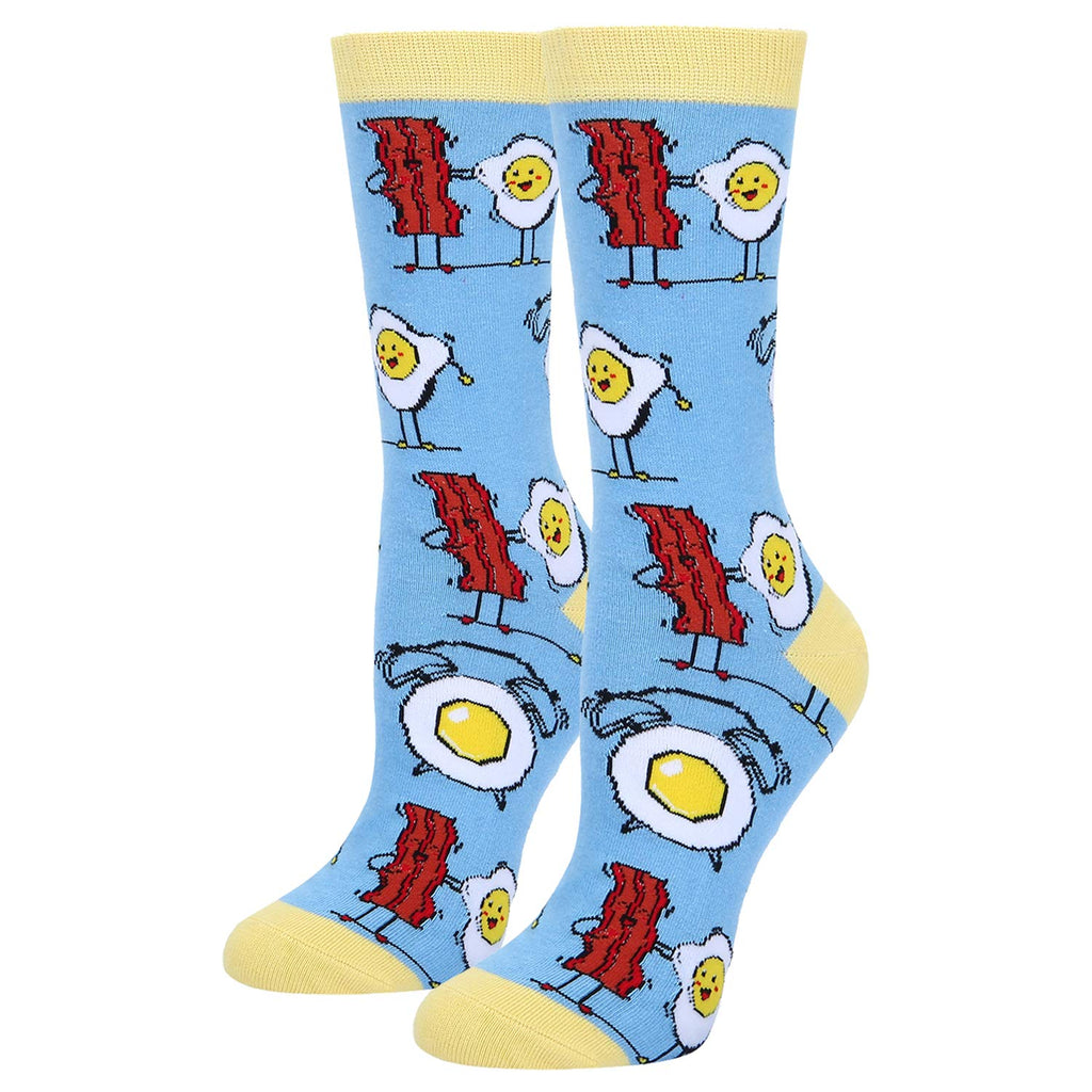 Egg Bacon Pun Socks - Happypop