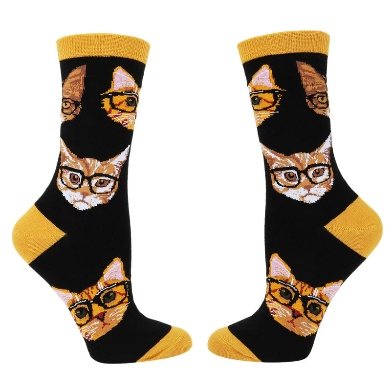 Glasses Cat Socks Gift Box