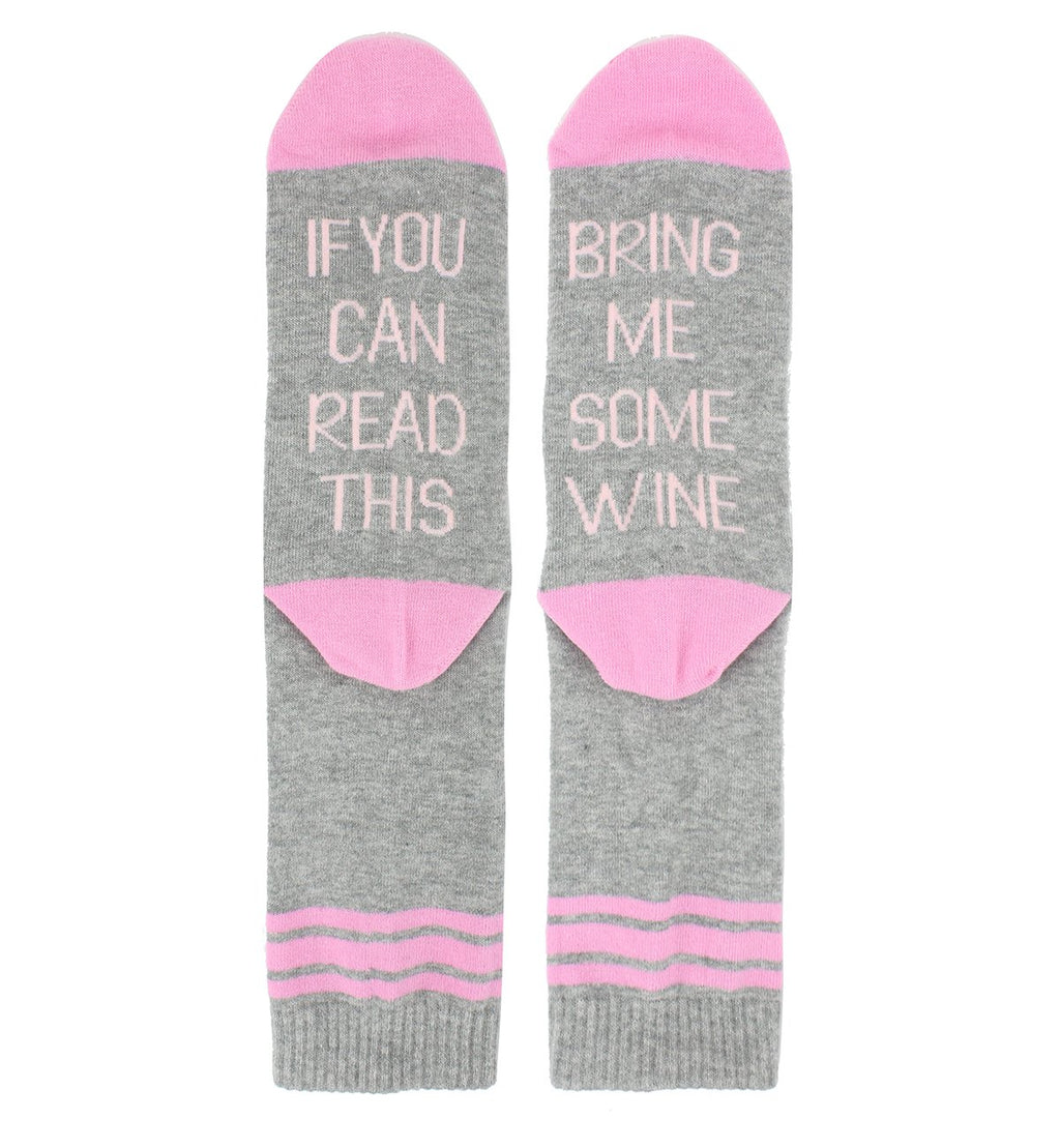 Saying Pink Wine Socks - Happypop