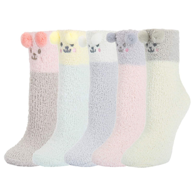 Fluffy Fuzzy Slipper Socks Series - Happypop