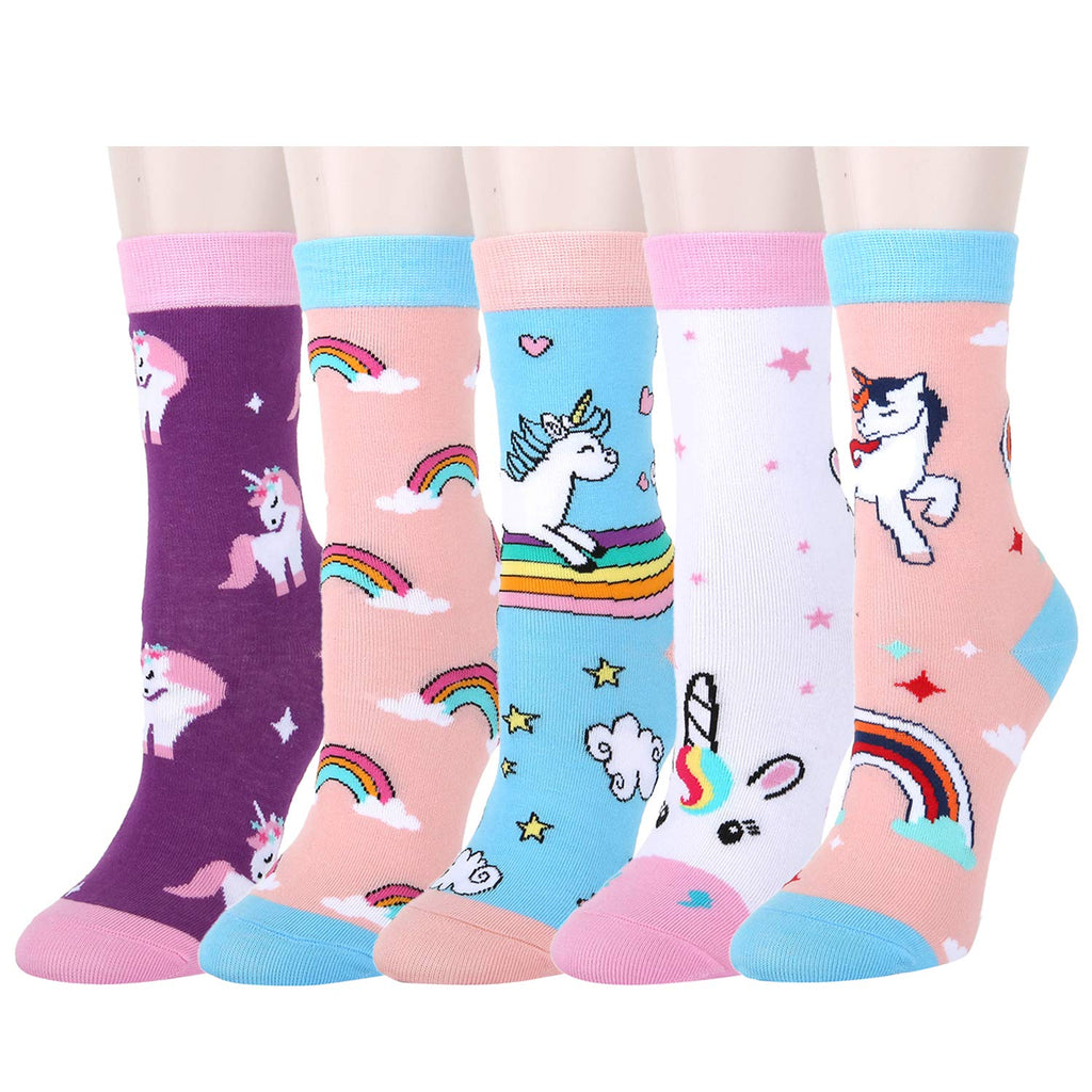 Kids Unicorn Socks Gift Box
