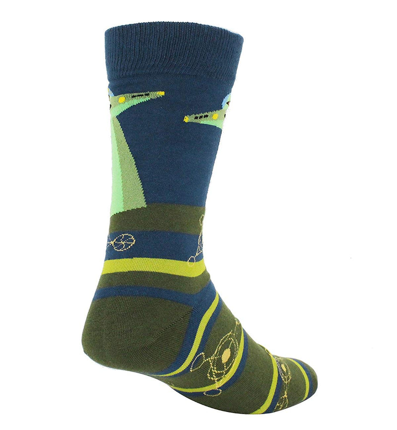 Crop Circle Alien Socks - Happypop