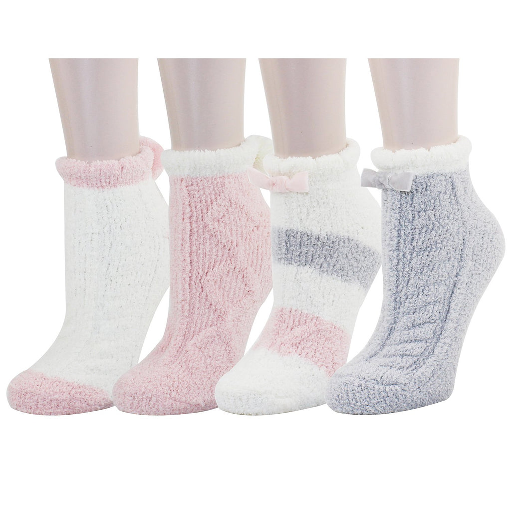 Fluffy Fuzzy Anti-Slip Pink Socks - Happypop