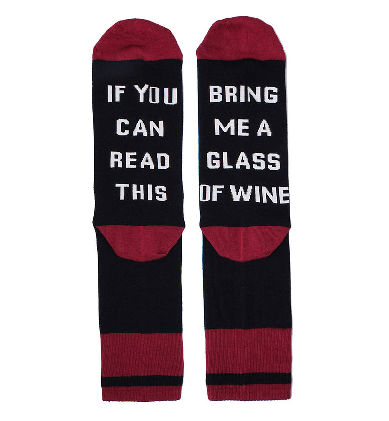 Saying Black Wine Socks