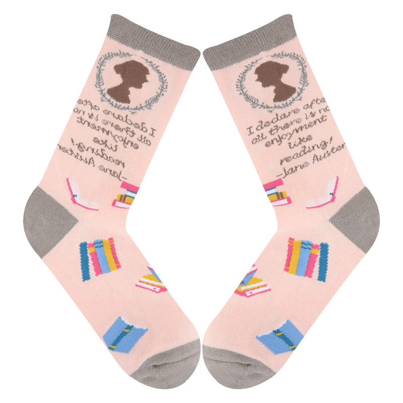 Jane Austen Socks - Happypop