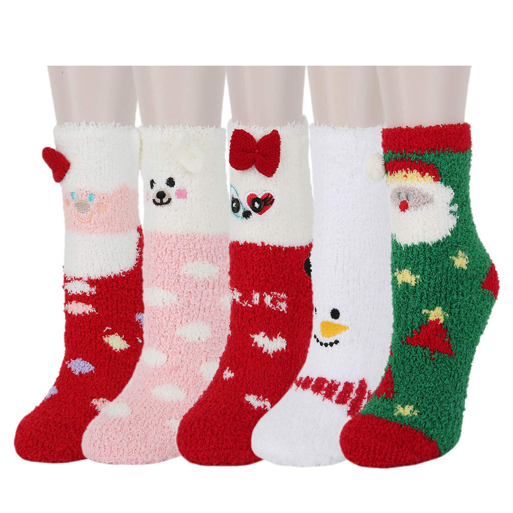 Fuzzy Xmas Slipper Socks - Happypop
