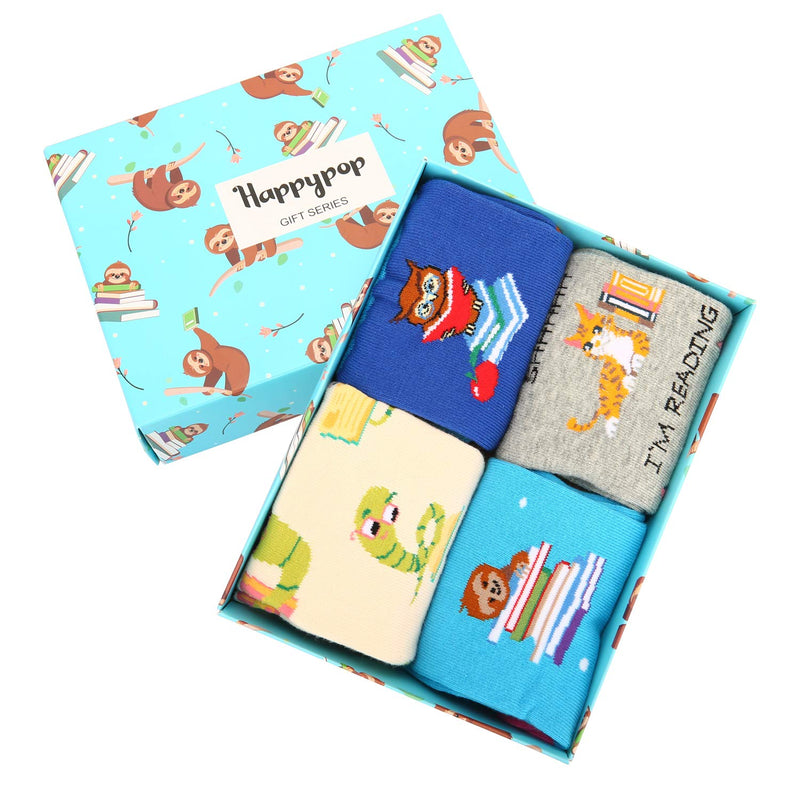 Glasses Animal Socks Gift Box