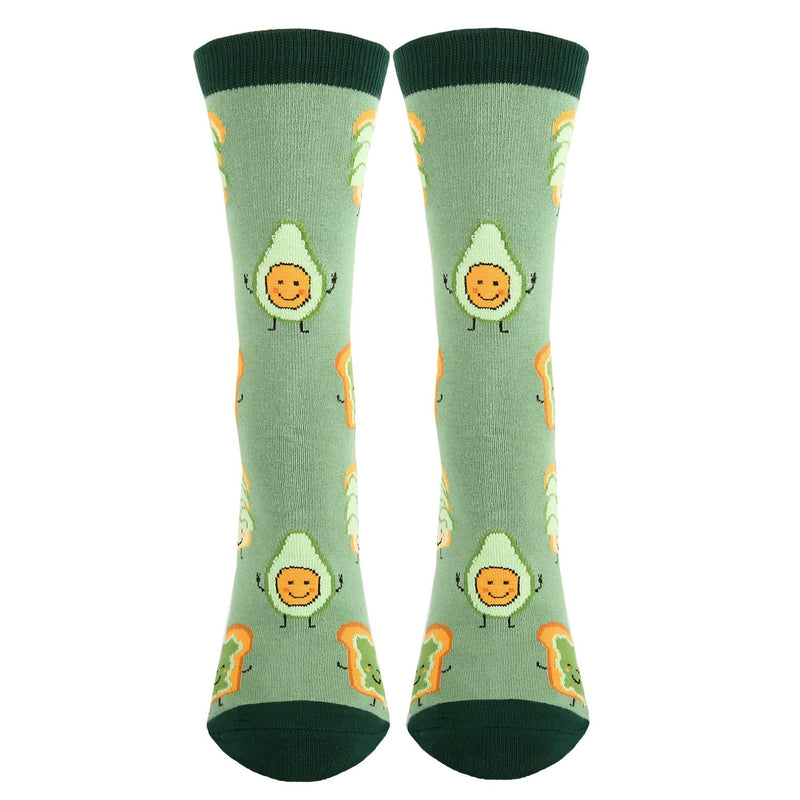 Toast Avocado Pun Socks - Happypop