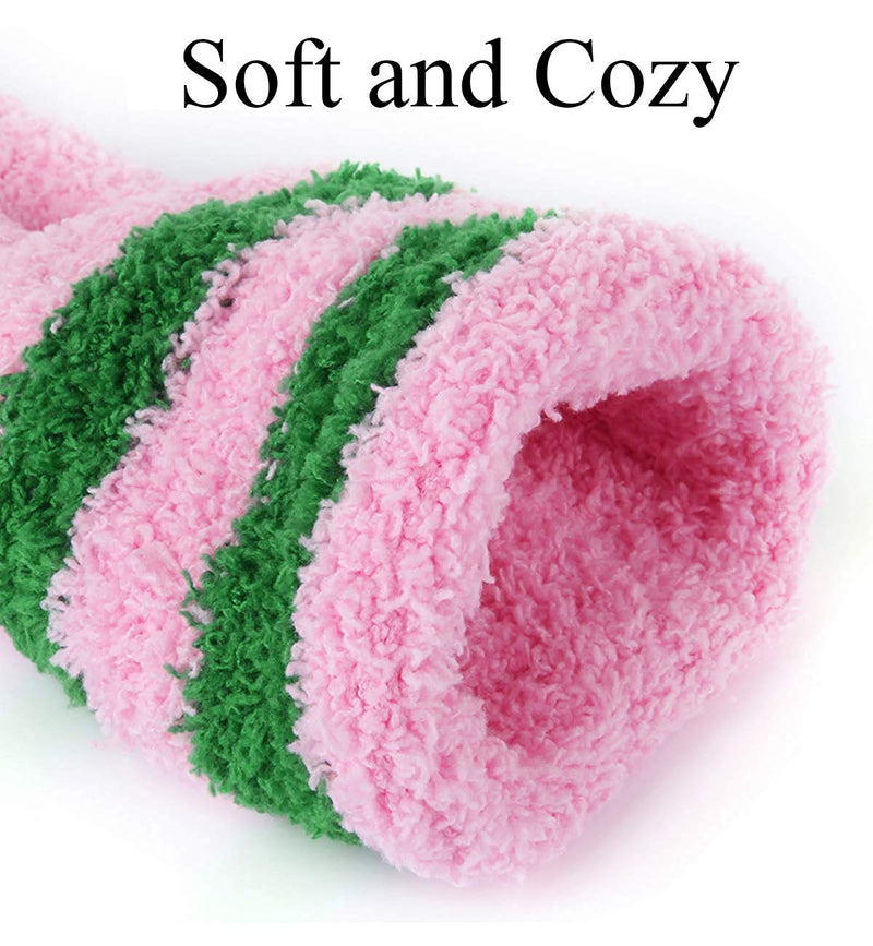 Pink Fluffy Fuzzy Saying Socks
