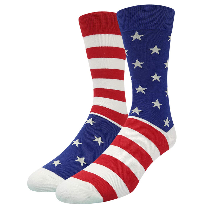 Stars Stripes Flag Socks - Happypop