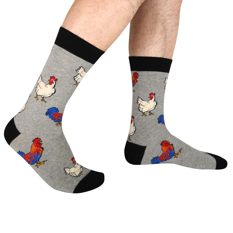 Grey Chicken Socks - Happypop