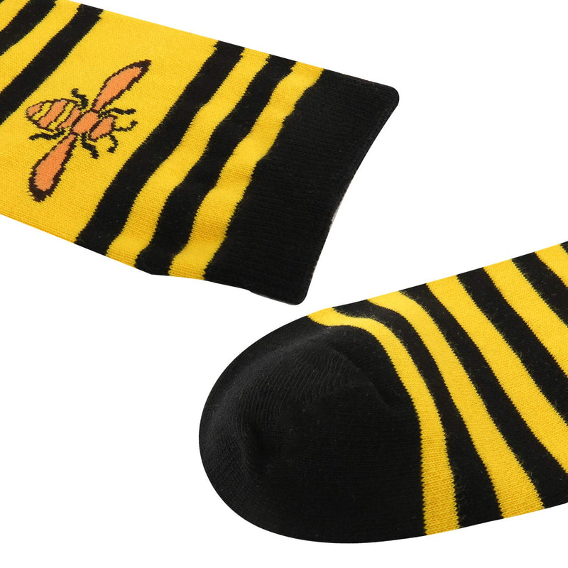 Striped Bees Socks - Happypop