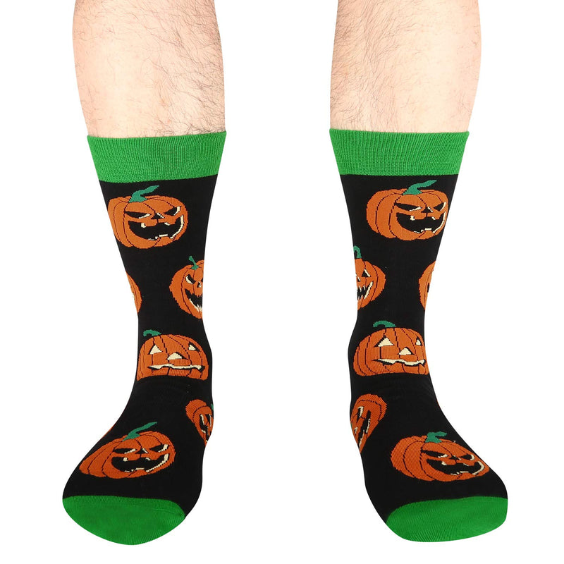 Halloween Orange Pumpkin Socks - Happypop