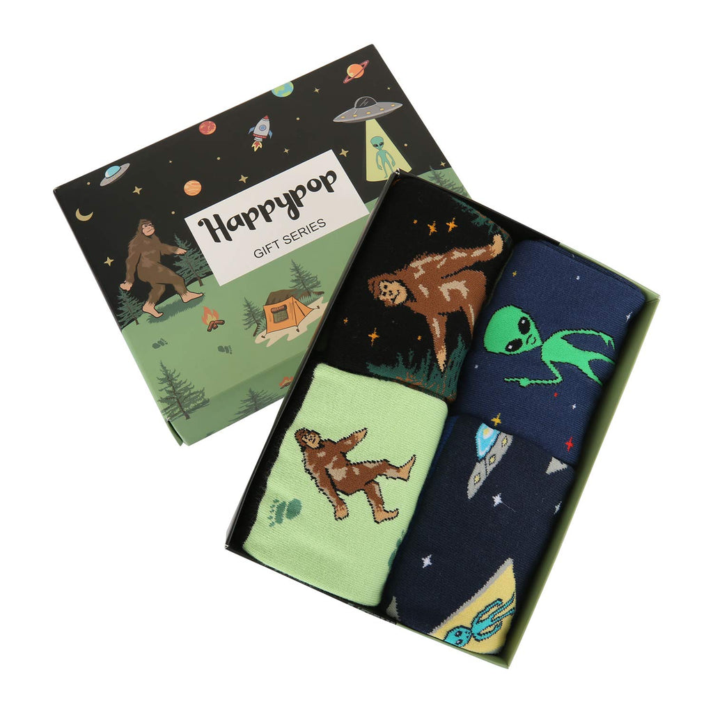 Alien Bigfoot Socks Gift Box - Happypop