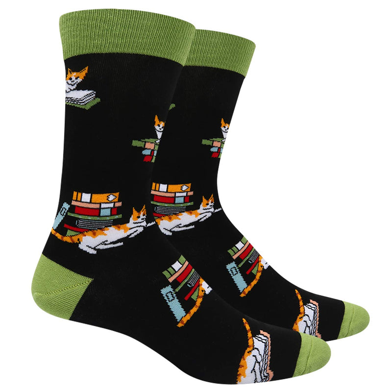 Book Cat Socks - Happypop