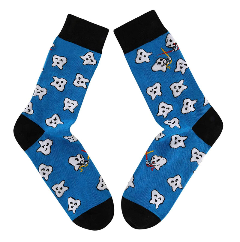 Blue Teeth Socks - Happypop