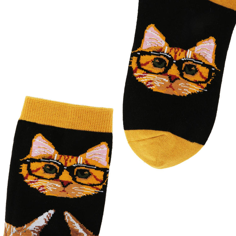 Glasses Cat Socks - Happypop