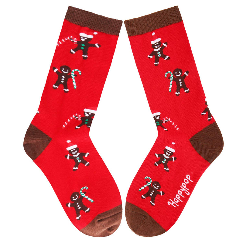 Red Gingerbread Socks