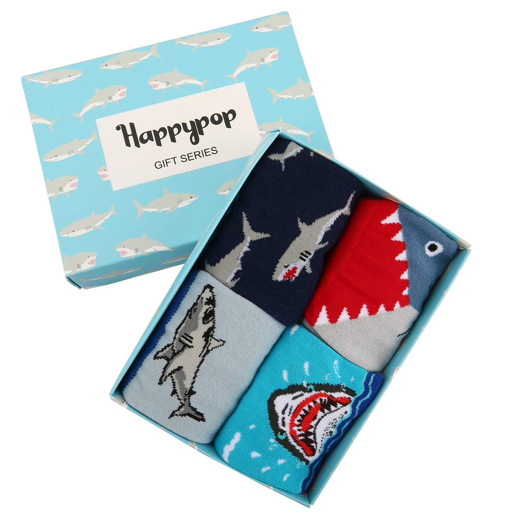 Kids Shark Socks Gift Box