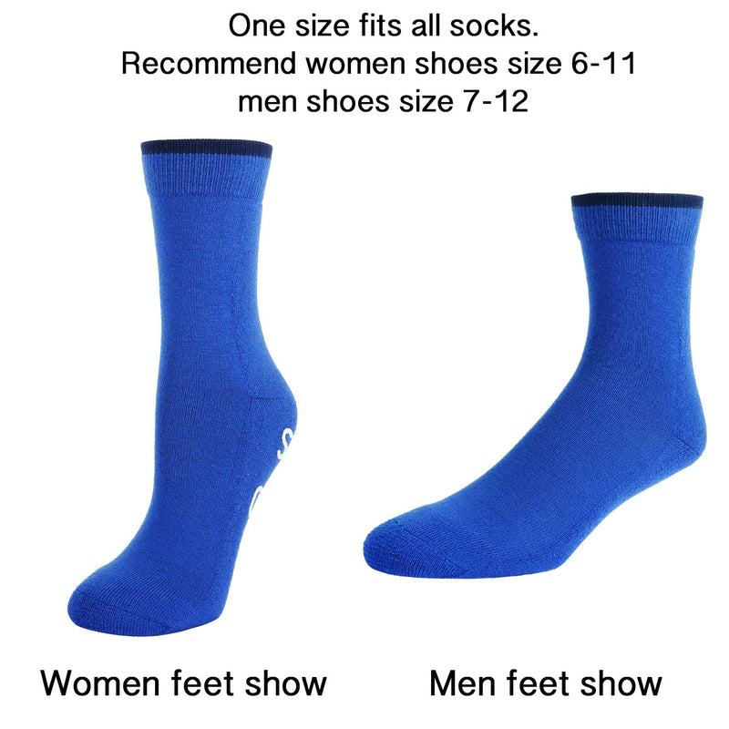 Blue Saying Wool Socks - Happypop