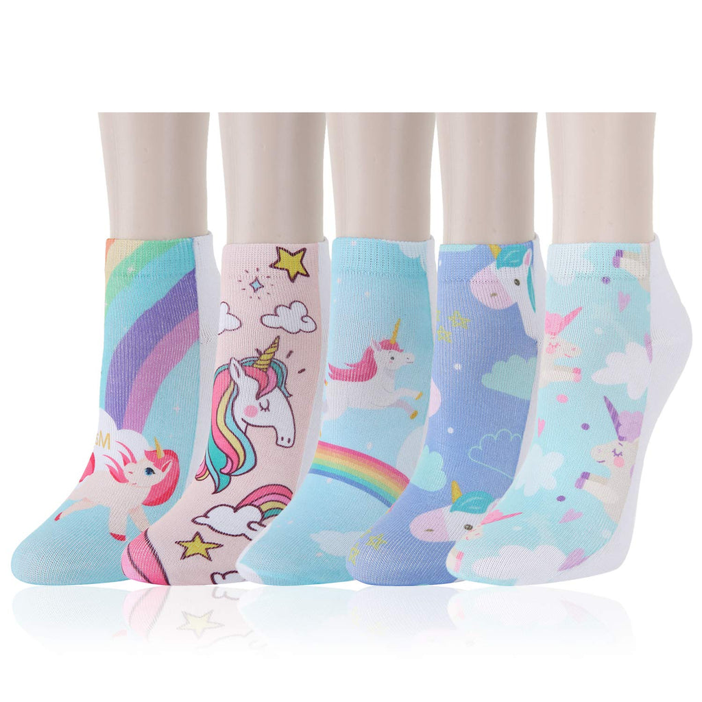 Kids Printed Unicorn Socks - Happypop