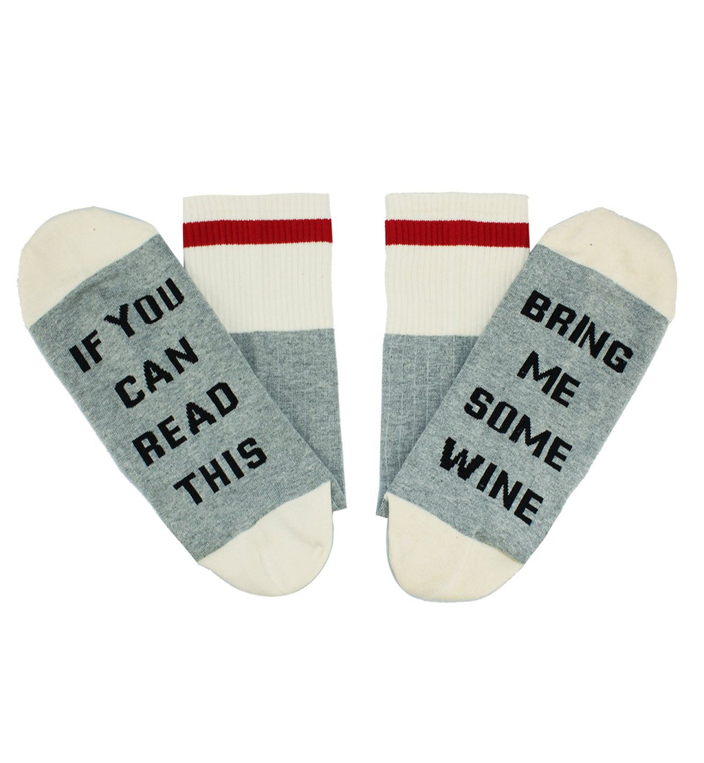 Saying White Wine Socks - Happypop