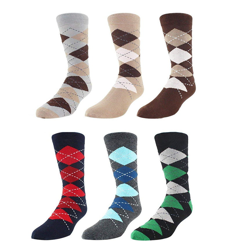 Stripe Argyle Socks - 5 pack