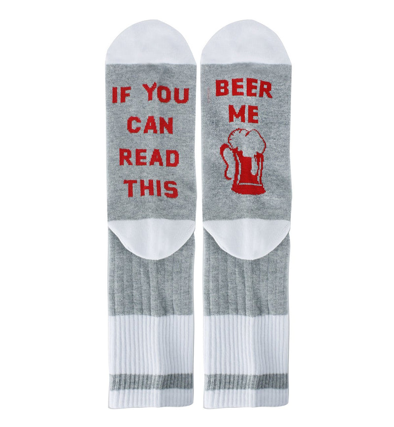 Saying White Beer Socks - Happypop