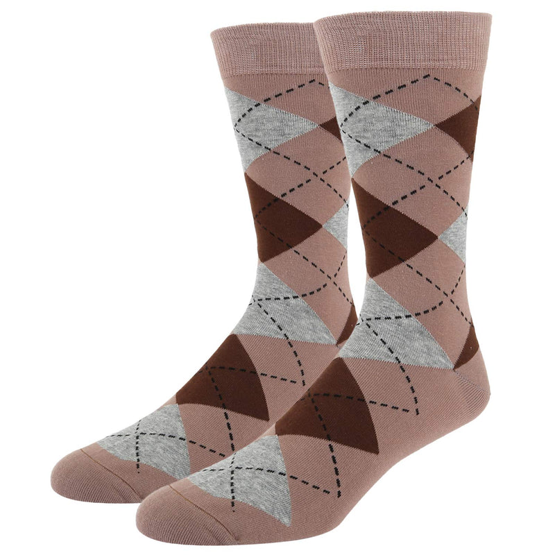 Brown Argyle Socks Gift Box - Happypop