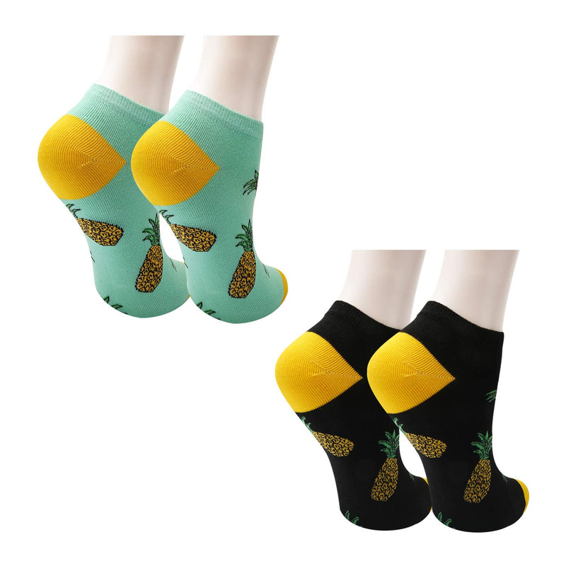 Pineapple Ankle Socks - 2 Pack - Happypop