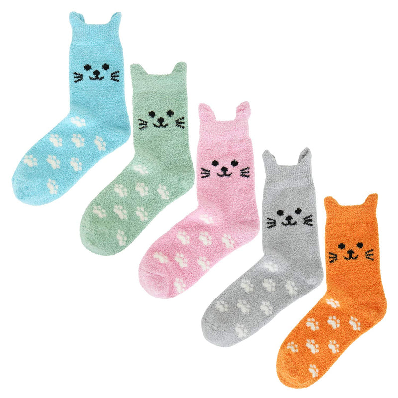 Fluffy Fuzzy Cute Kitty Socks - Happypop