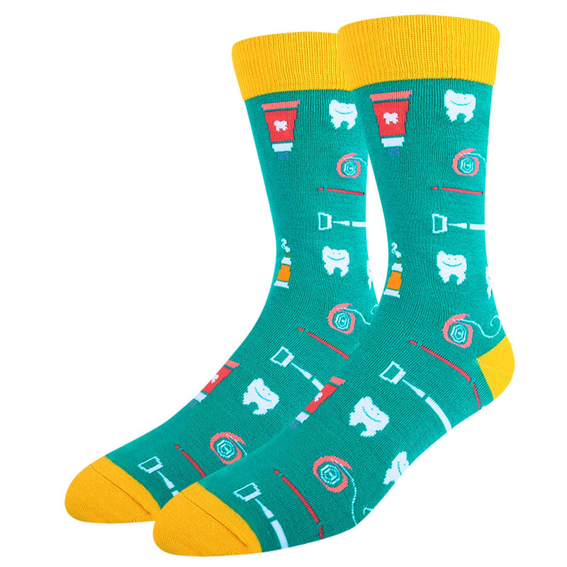 Mens Dental Teeth Toy Socks