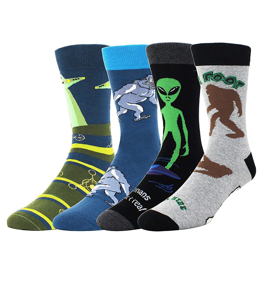 Alien Sasquatch Socks Gift Box - Happypop