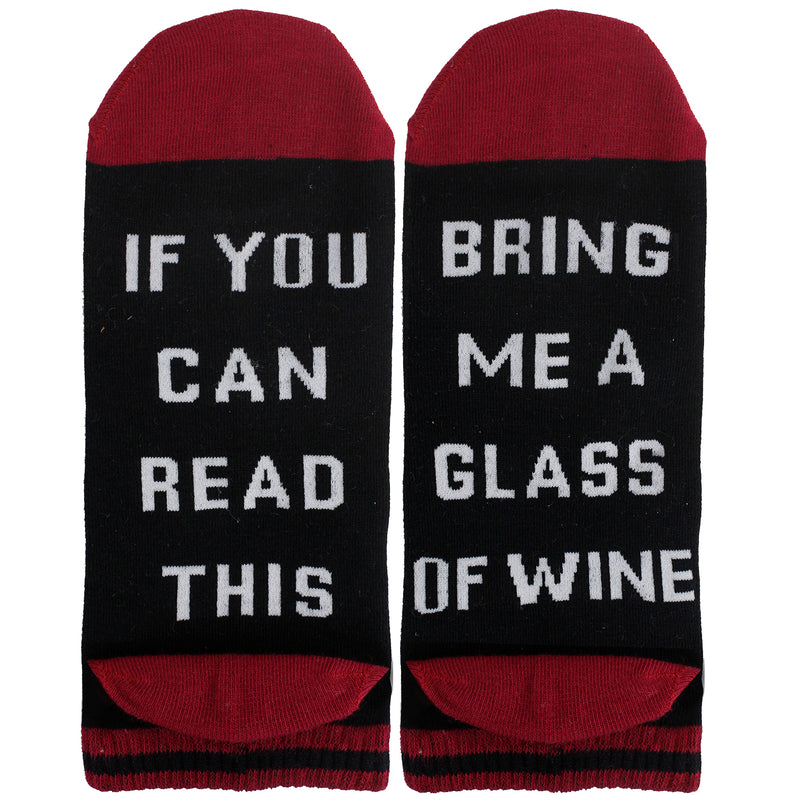 Saying Red Wine Ankle Socks - Happypop